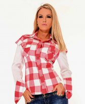 MissQ Delicious Pattern Red Shirt