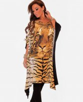 MissQ Tiger Lady Cream Dress