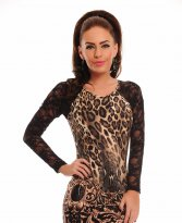 MissQ Wild Lace Brown Dress
