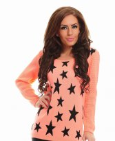 MissQ Falling Stars Orange Blouse