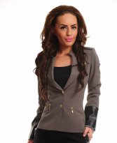 LaDonna Impressive Look Grey Jacket