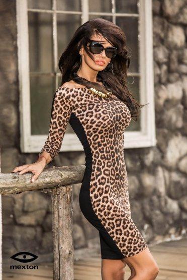 Rochie Mexton Glamorous Diva Brown