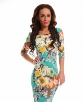 Haine. Rochie Contagious Notes Mint