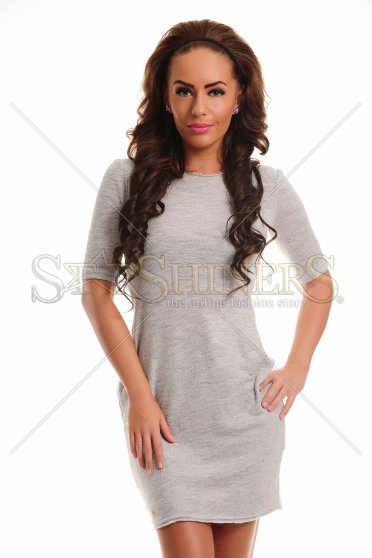 Rochie Fofy Loved Pleasure Grey