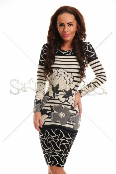 Rochie StarShinerS Flowered Grey