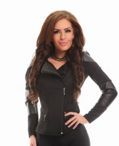 Fofy Leather Icon Black Jacket