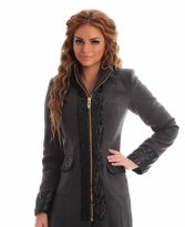 LaDonna Electric Fashion DarkGrey Coat