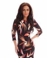 Haine. Rochie Sensual Autumn DarkBrown