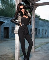 Mexton Distinct Grace Black Jumpsuit