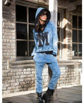 Haine. Set Mexton Random Denim Blue