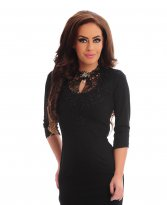 LaDonna Touchy Feeling Black Dress