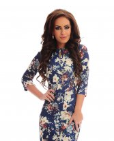LaDonna Falling Flowers DarkBlue Dress