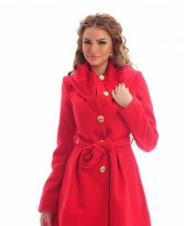 LaDonna Warm Time Red Coat