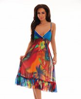 Haine. Rochie Paradise Colour Red