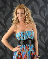 Rochie Fascinating Print Blue