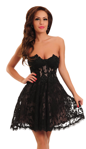 Mexton Fantasy Princess Black Dress