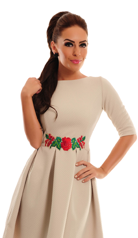 StarShinerS Inserted Cream Dress
