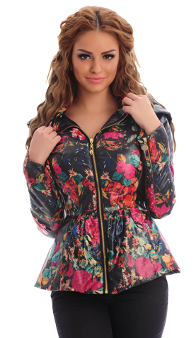Floral Privilege DarkBlue Jacket