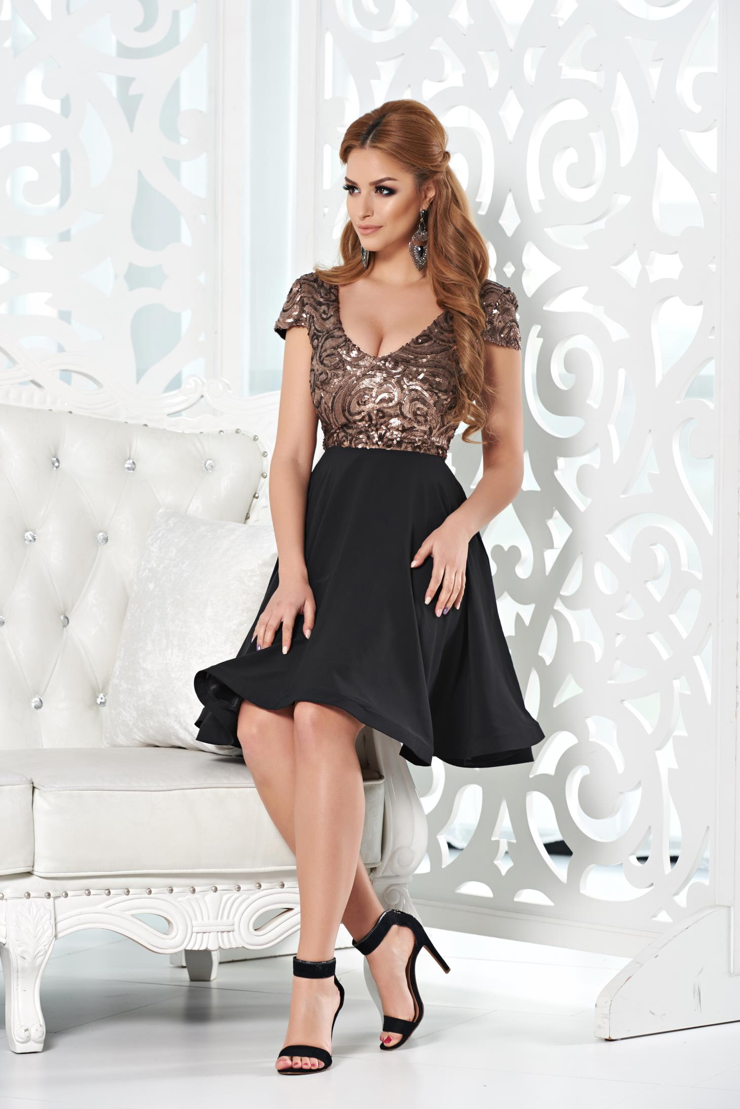 Rochie StarShinerS Sparkle Charms Brown