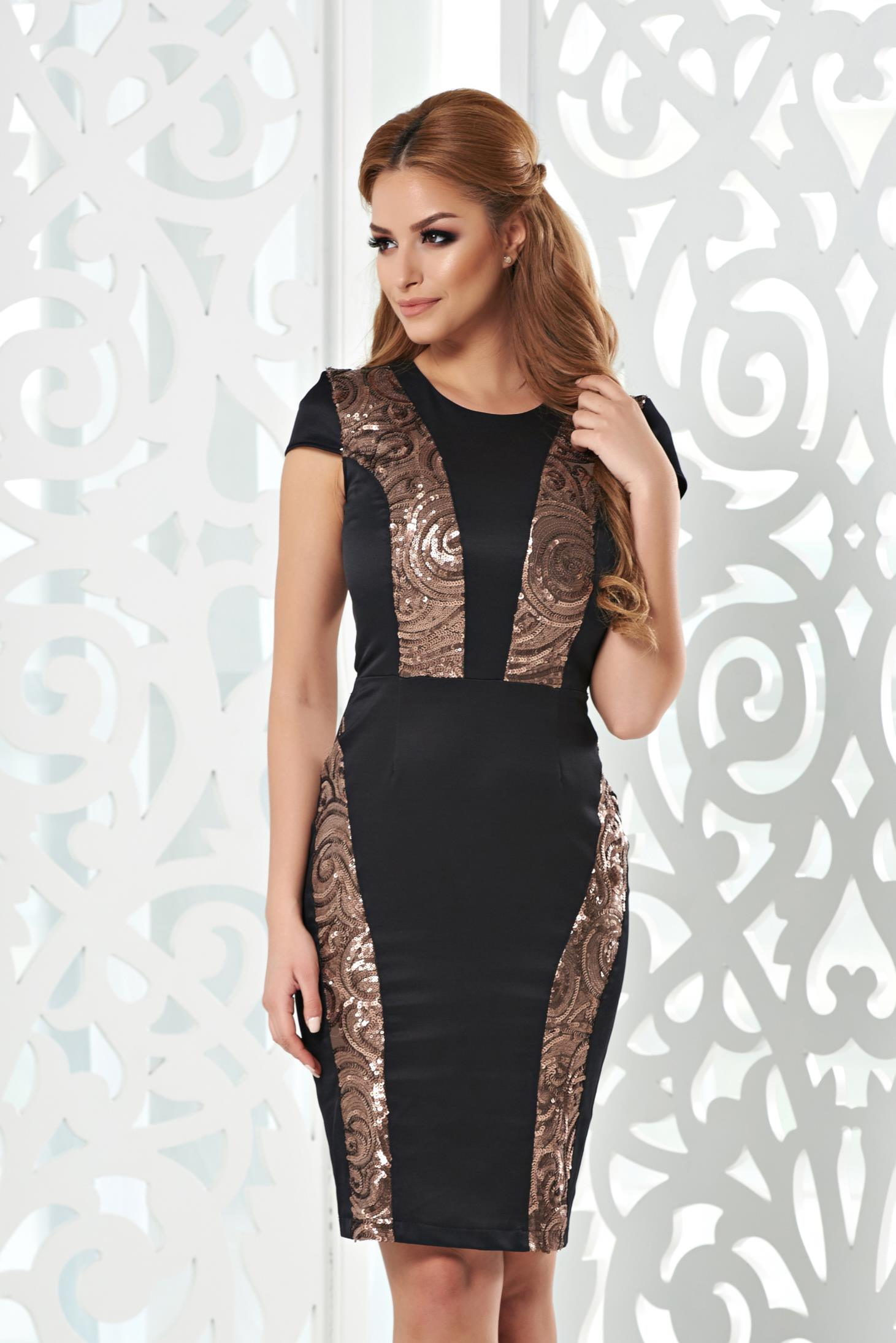Rochie StarShinerS Golden Sparkle Brown