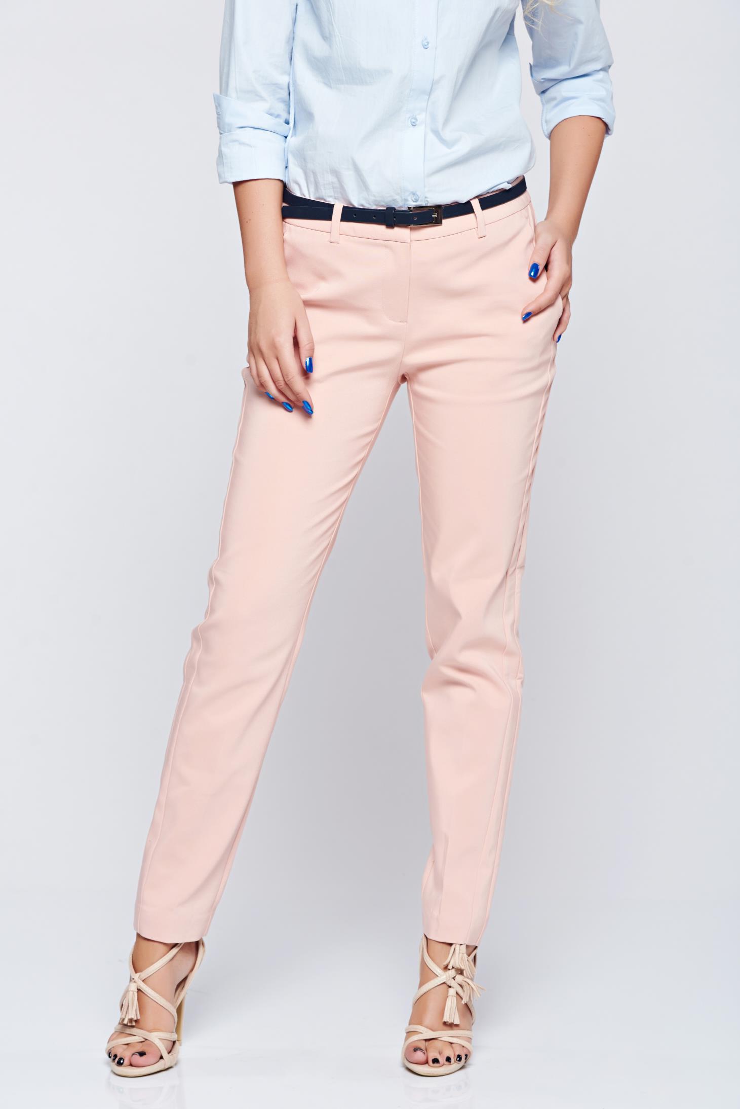Pantaloni Top Secret piersica office drepti cu talie medie