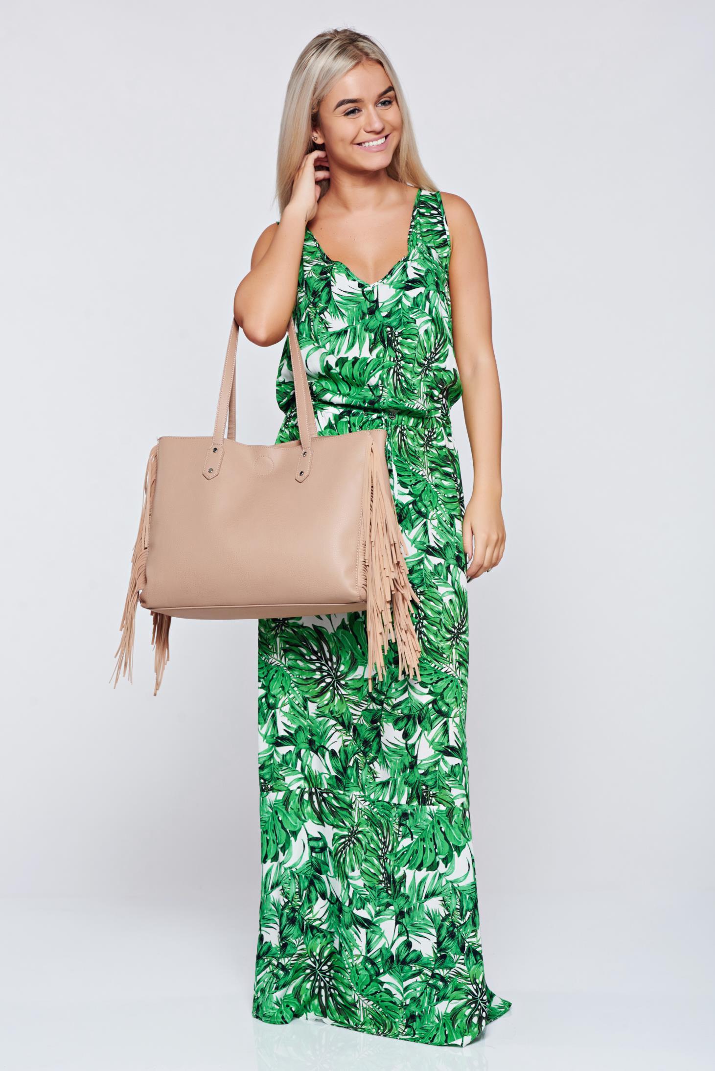 Rochie Top Secret verde casual cu croi larg fara maneci