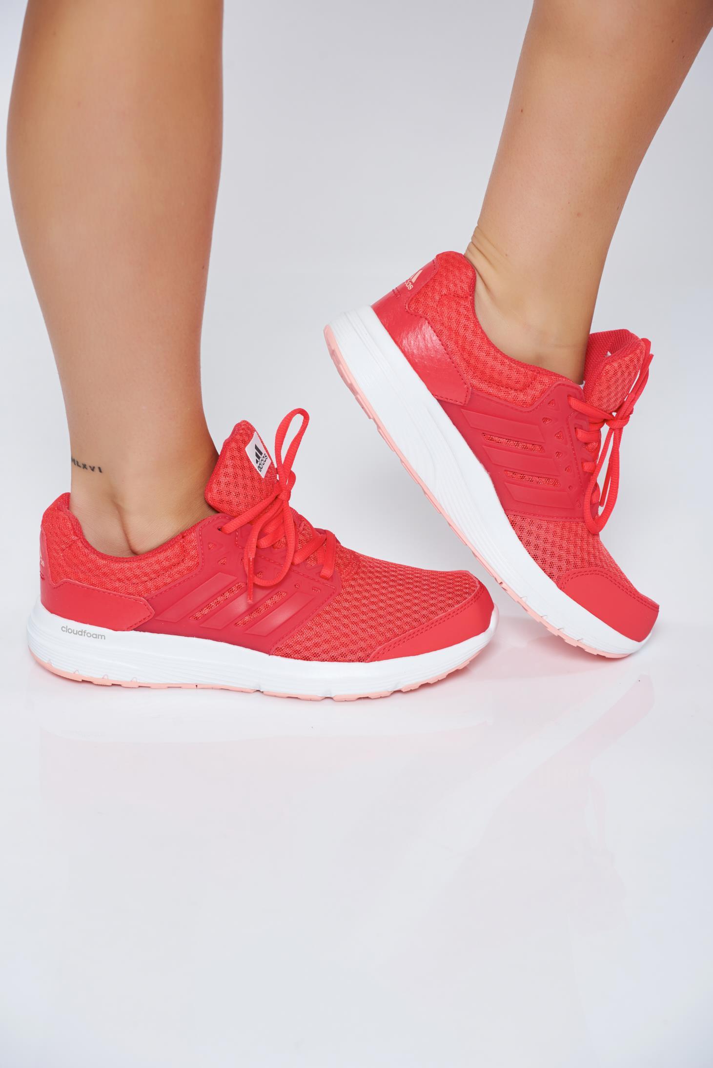 Pantofi sport Adidas corai casual cu siret cu talpa joasa