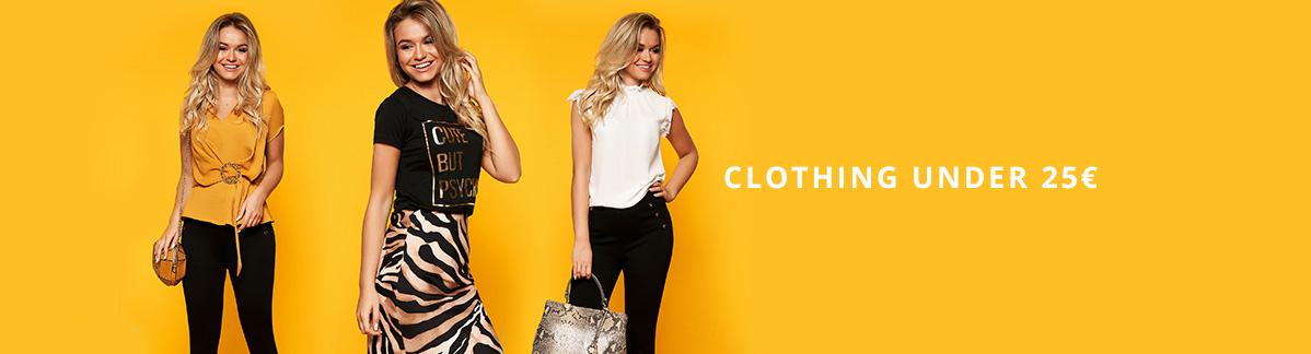 Women clothing under 25 euros