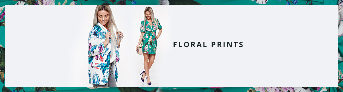 Clothes with floral prints